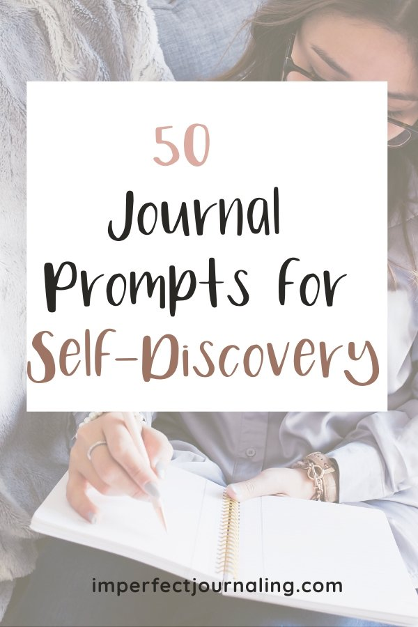 Text: 50 Journal Prompts for Self-Discovery
