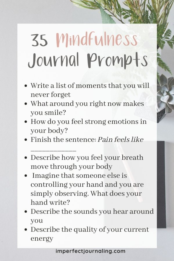 Image list of journal prompts